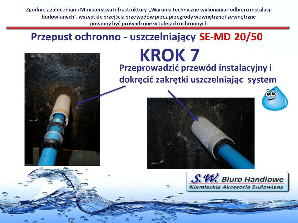 KROK 7 Przepust ochronno - uszczelniający SE-MD 20/50