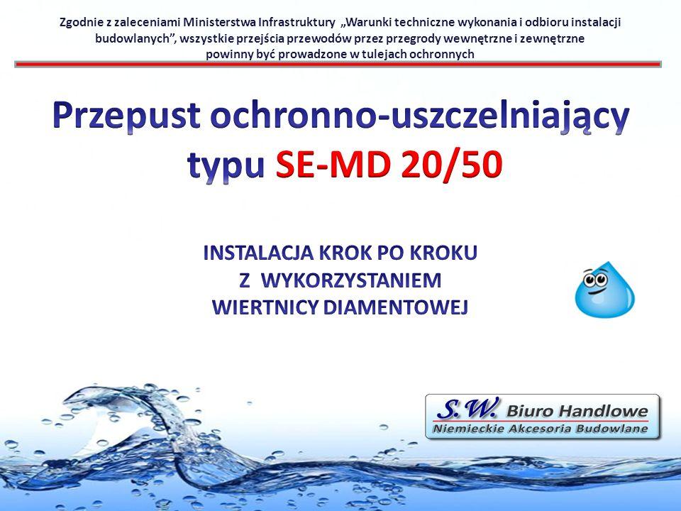Przepust ochronno-uszczelniający typu SE-MD 20/50