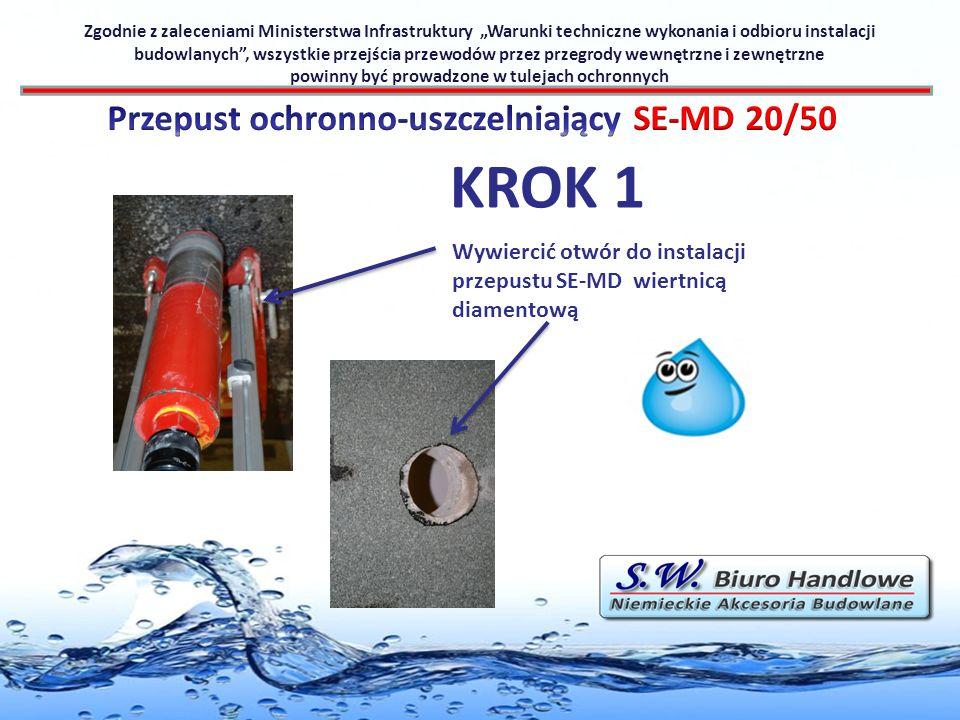 KROK 1 Przepust ochronno-uszczelniający SE-MD 20/50