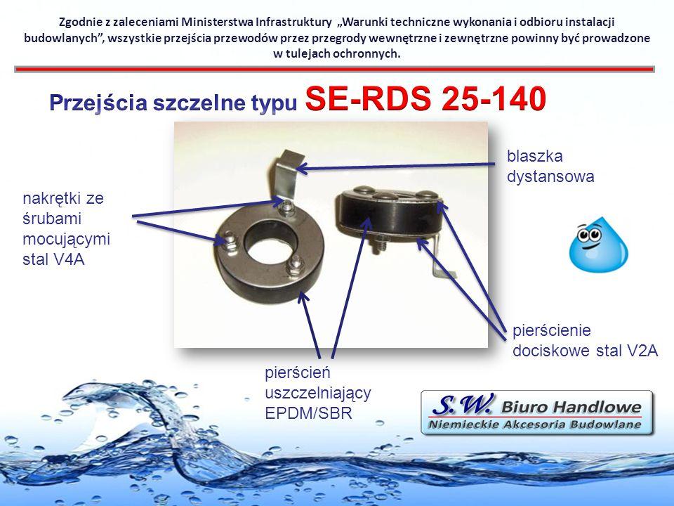 Przejścia szczelne typu SE-RDS 25-140