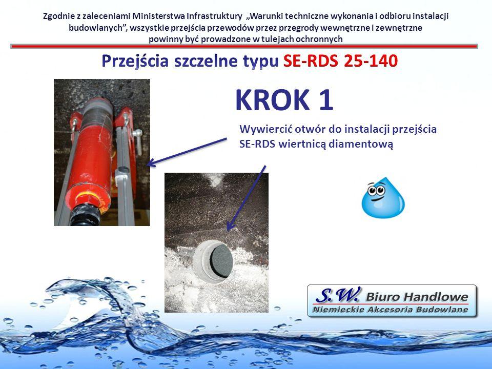 KROK 1 Przejścia szczelne typu SE-RDS 25-140