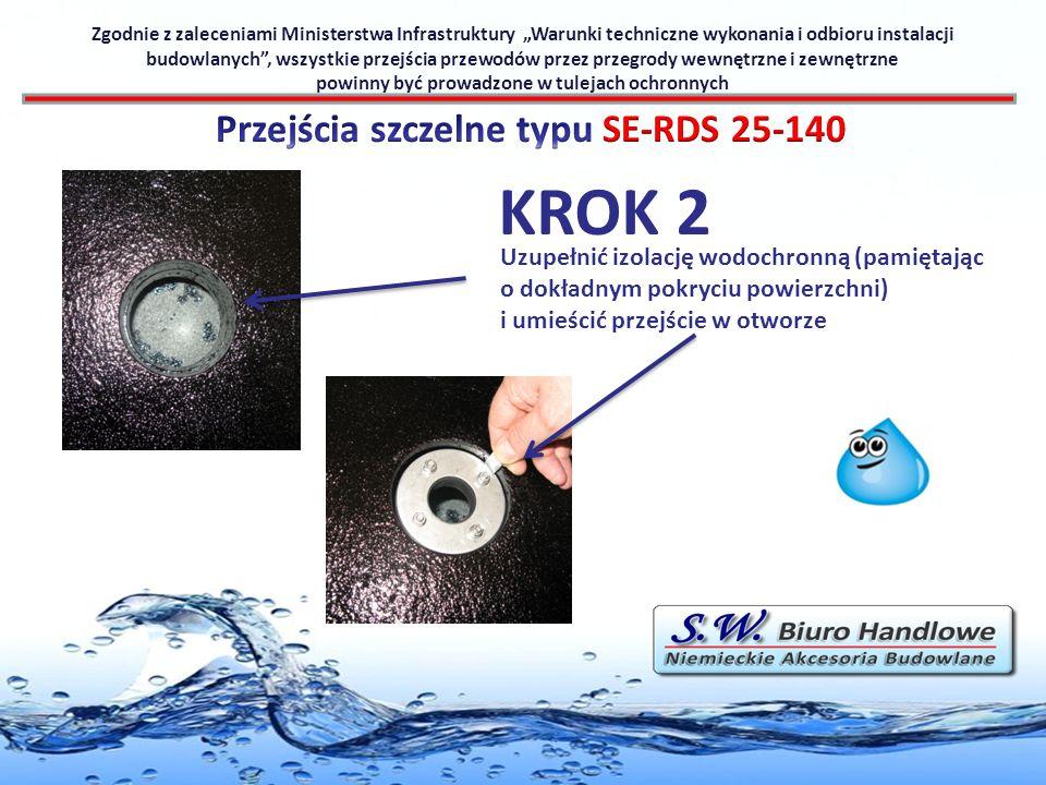 KROK 2 Przejścia szczelne typu SE-RDS 25-140