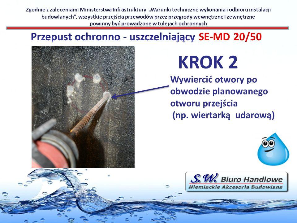 KROK 2 Przepust ochronno - uszczelniający SE-MD 20/50