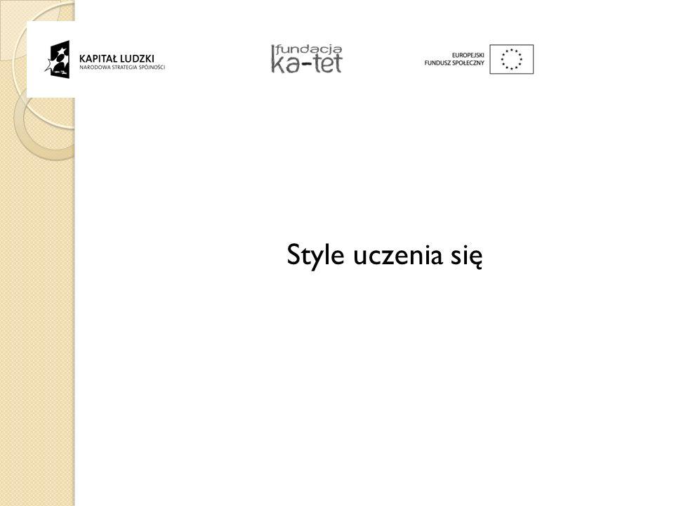 . Style uczenia się