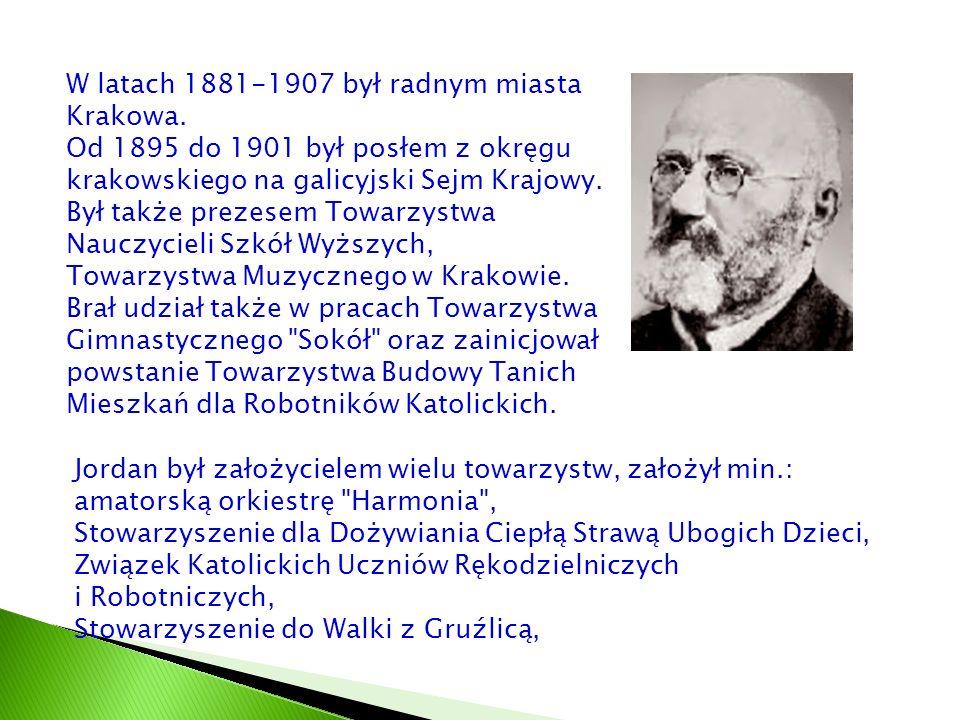 W latach 1881-1907 był radnym miasta Krakowa.
