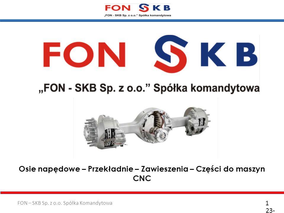 Osie napędowe – Przekładnie – Zawieszenia – Części do maszyn CNC