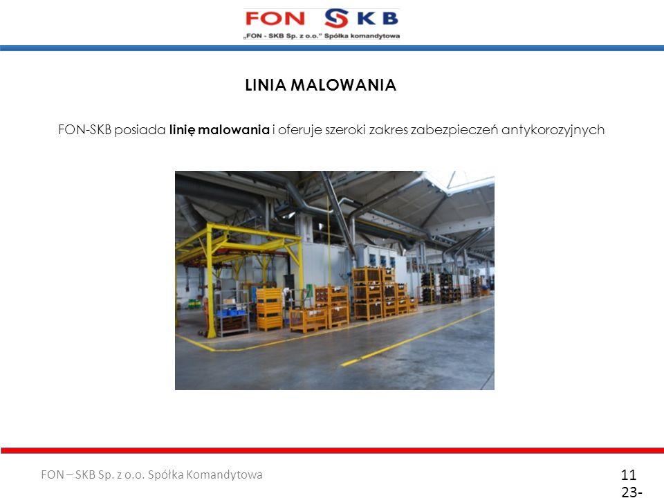 LINIA MALOWANIA FON-SKB posiada linię malowania i oferuje szeroki zakres zabezpieczeń antykorozyjnych.