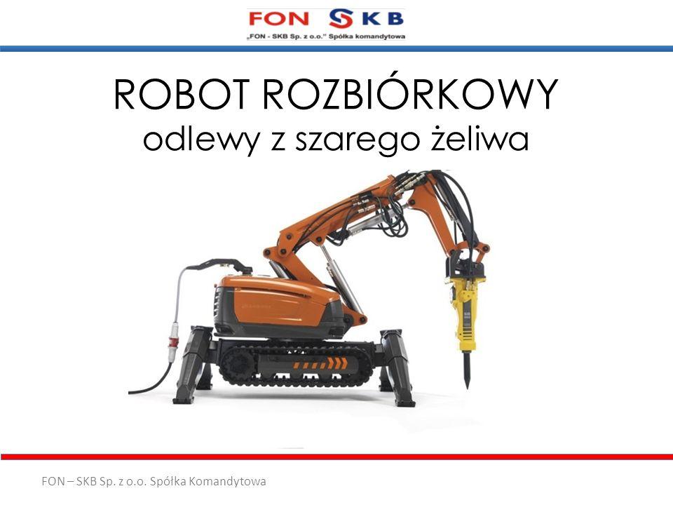 ROBOT ROZBIÓRKOWY odlewy z szarego żeliwa