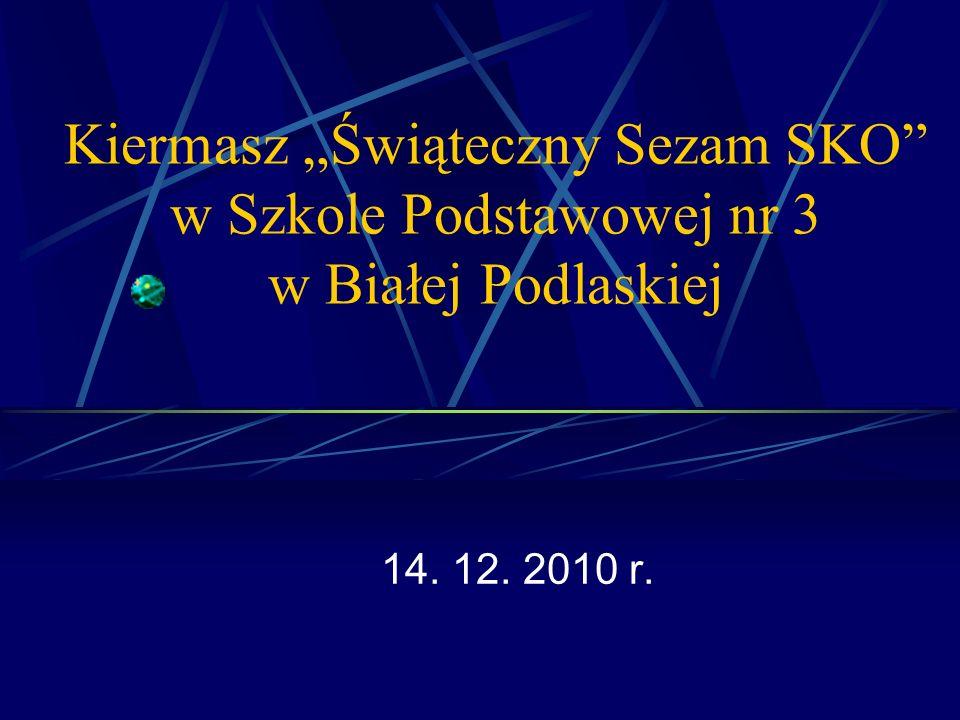"""Kiermasz """"Świąteczny Sezam SKO w Szkole Podstawowej nr 3 w Białej Podlaskiej"""