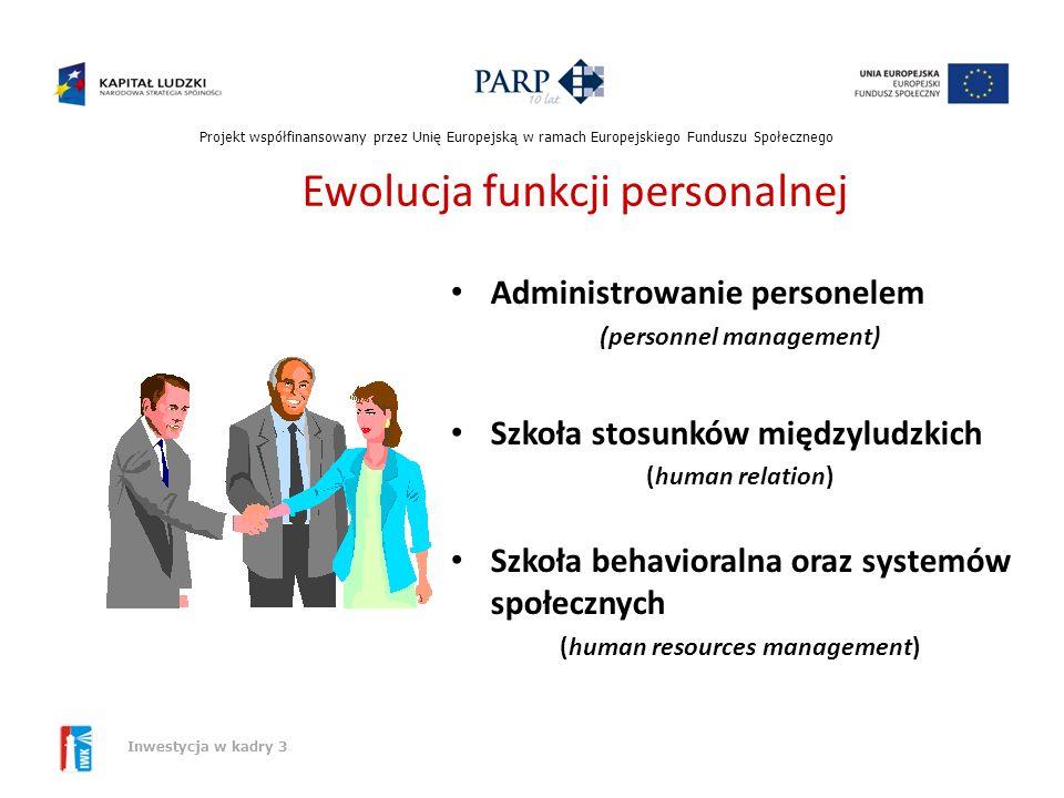 Ewolucja funkcji personalnej