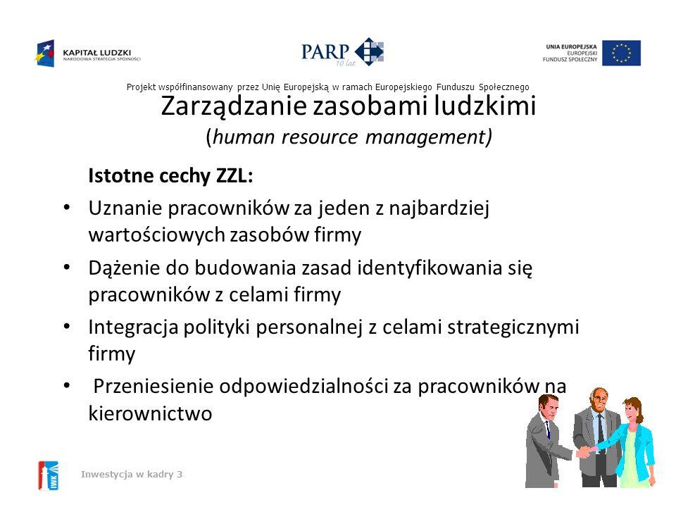 Zarządzanie zasobami ludzkimi (human resource management)