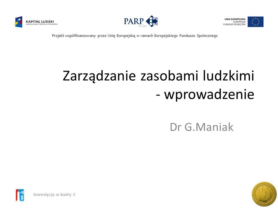 Zarządzanie zasobami ludzkimi - wprowadzenie