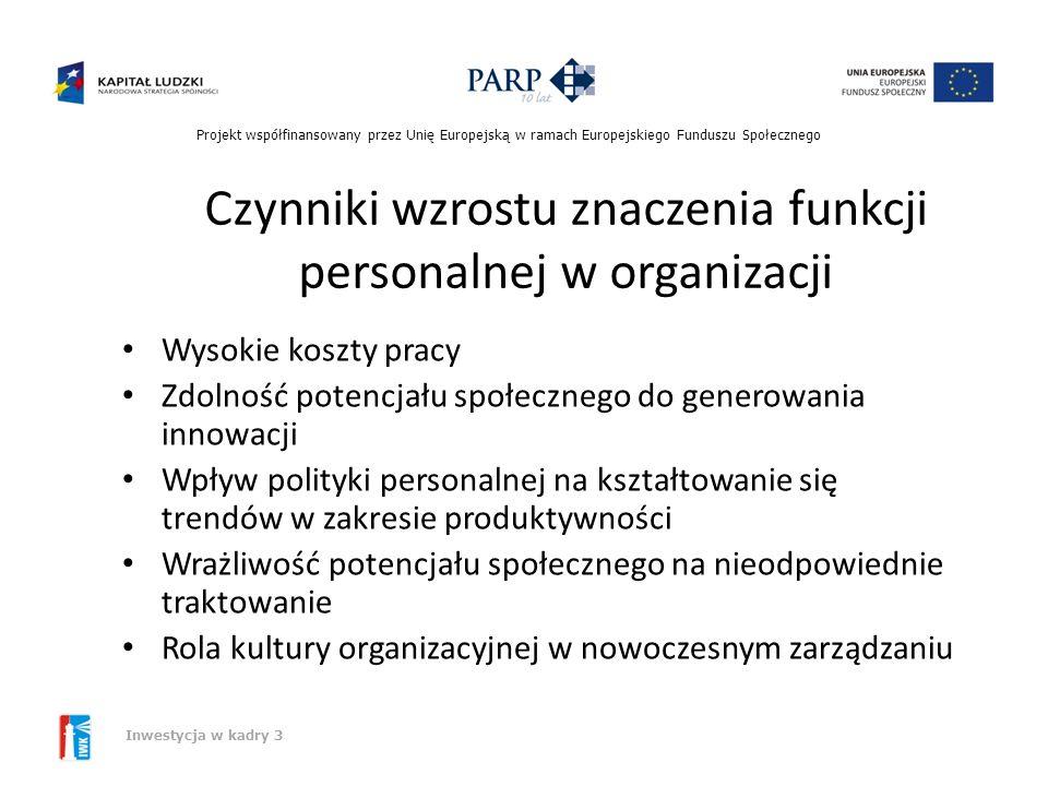 Czynniki wzrostu znaczenia funkcji personalnej w organizacji