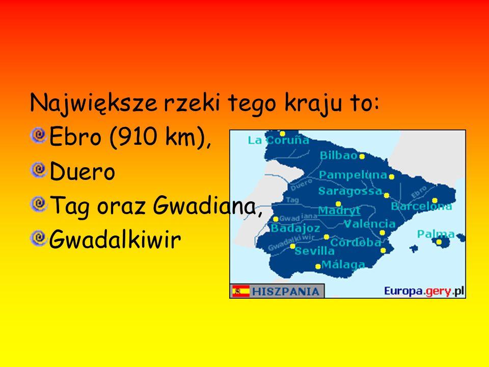 Największe rzeki tego kraju to: