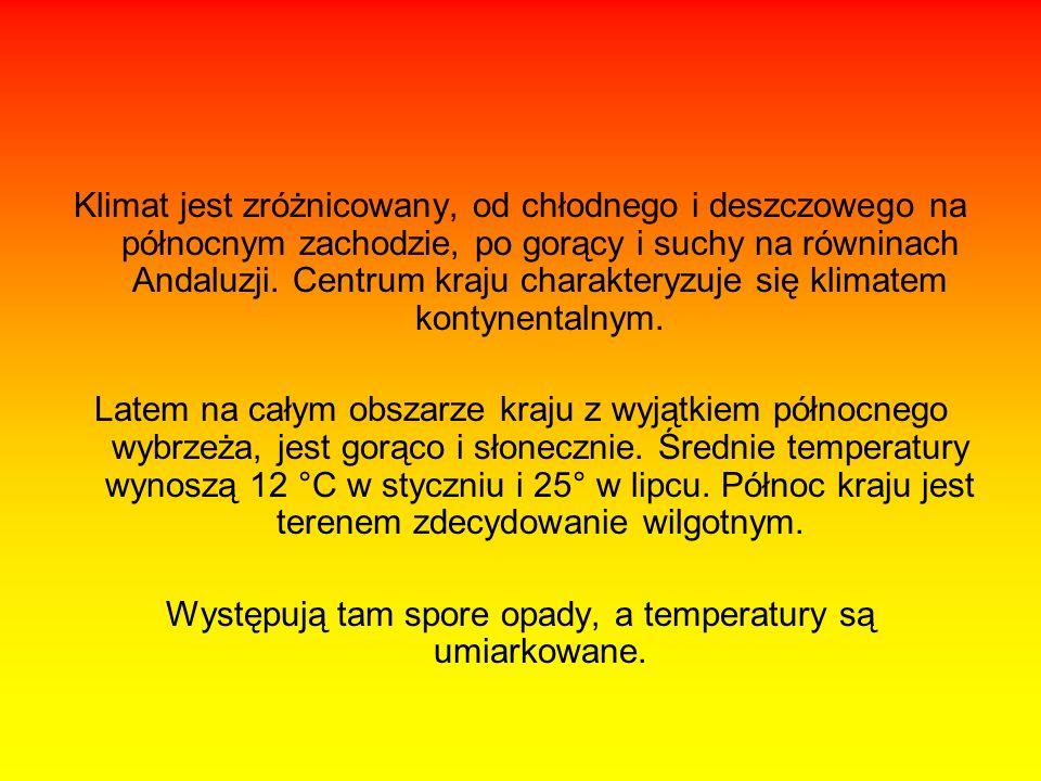 Występują tam spore opady, a temperatury są umiarkowane.