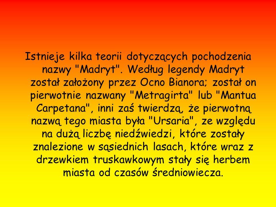 Istnieje kilka teorii dotyczących pochodzenia nazwy Madryt