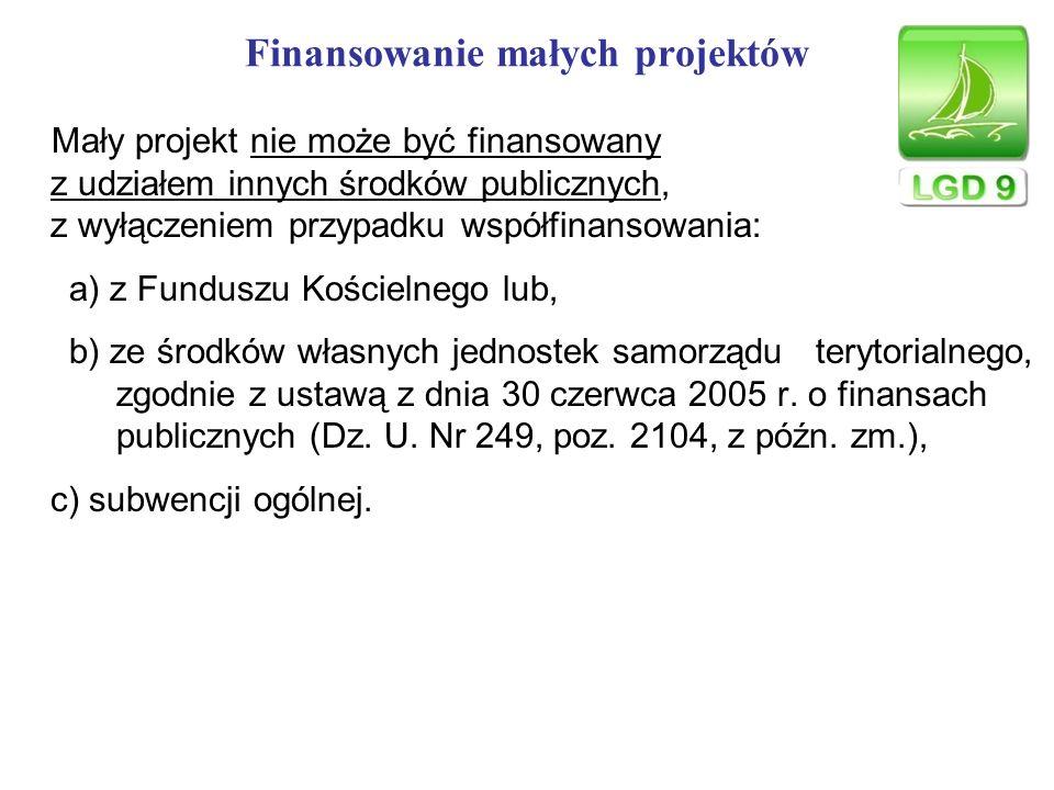 Finansowanie małych projektów