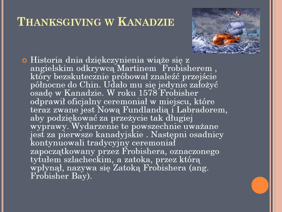 Thanksgiving w Kanadzie