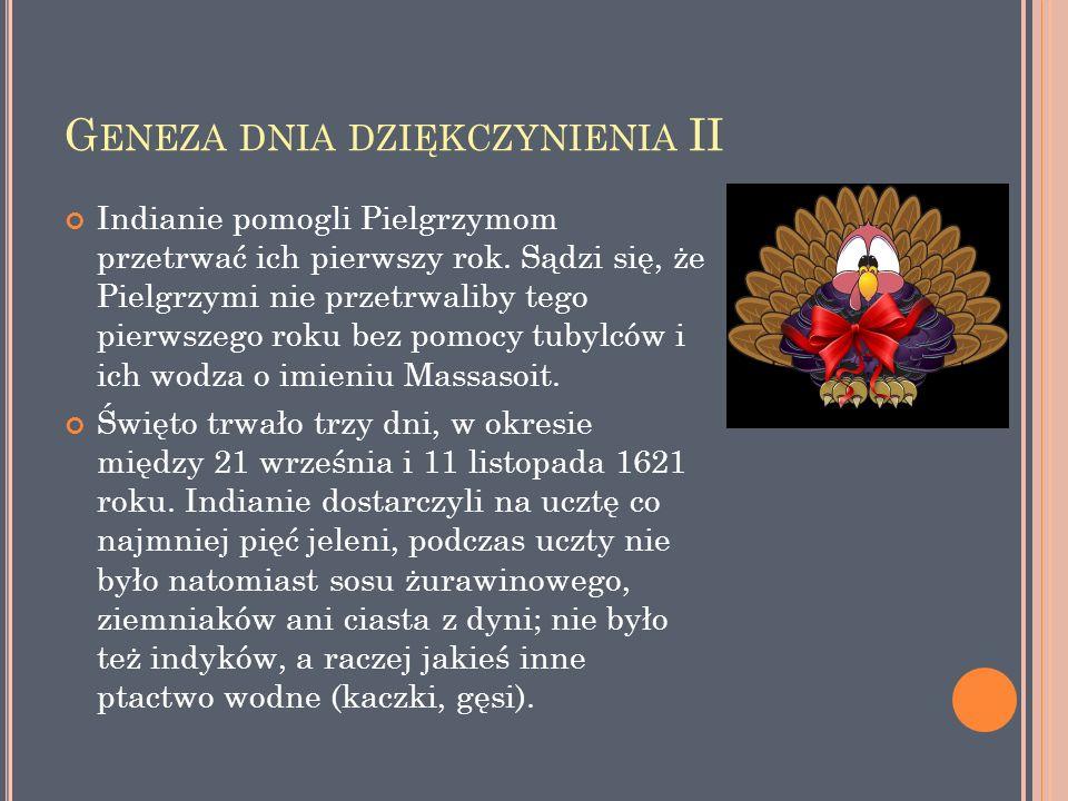 Geneza dnia dziękczynienia II