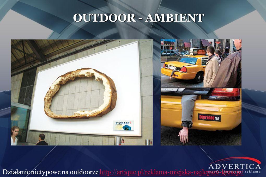 OUTDOOR - AMBIENT Działanie nietypowe na outdoorze http://artique.pl/reklama-miejska-najlepsze-kreacje/