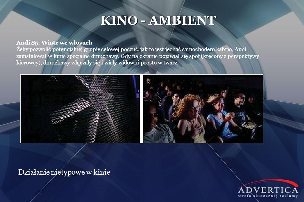 KINO - AMBIENT Działanie nietypowe w kinie