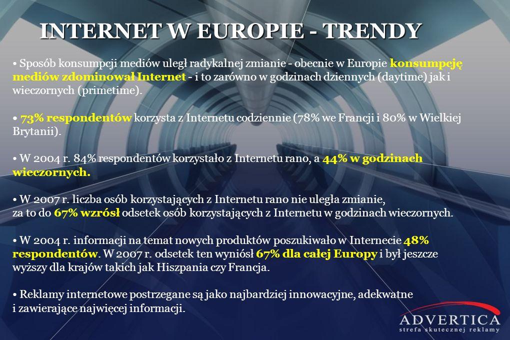 INTERNET W EUROPIE - TRENDY