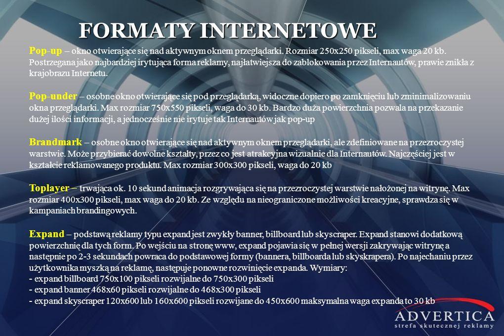 FORMATY INTERNETOWE