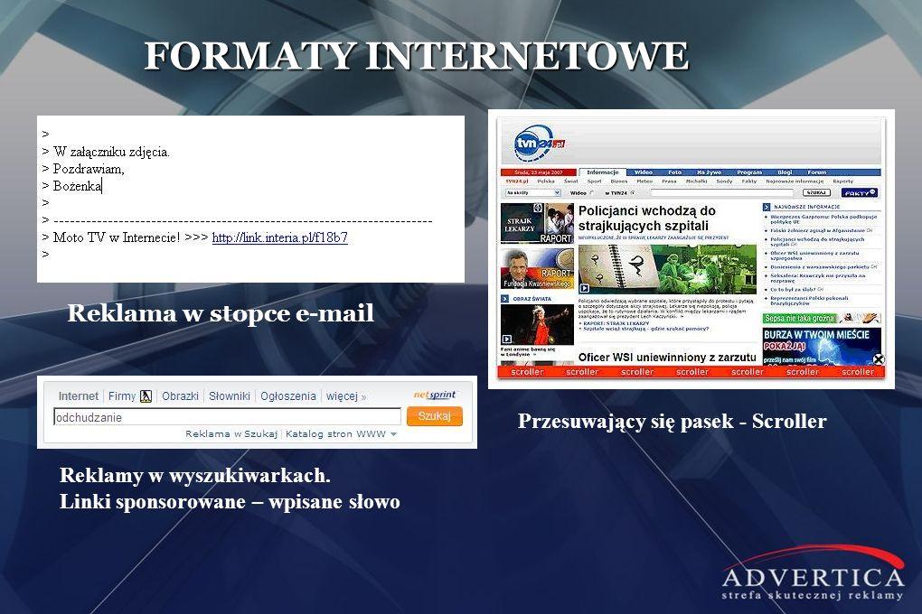 FORMATY INTERNETOWE Reklama w stopce e-mail