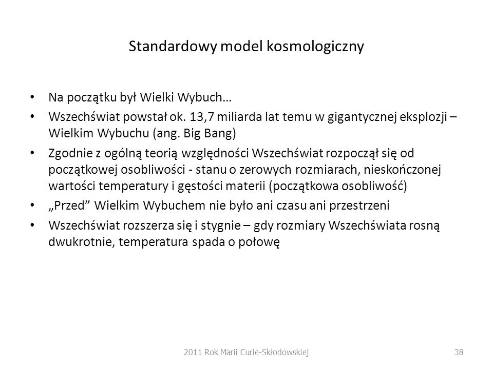 Standardowy model kosmologiczny
