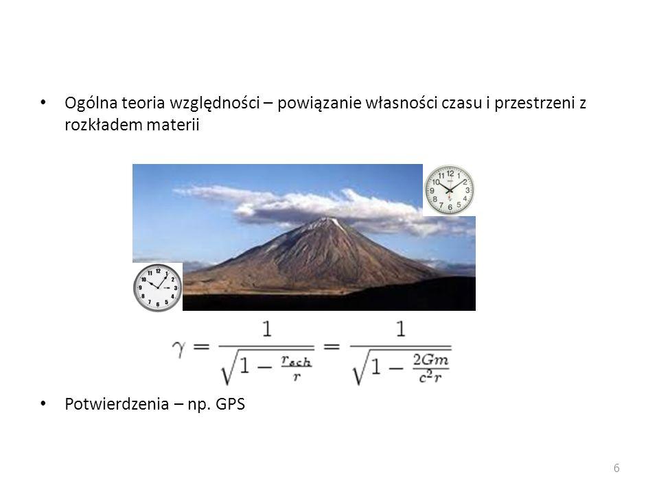 Ogólna teoria względności – powiązanie własności czasu i przestrzeni z rozkładem materii