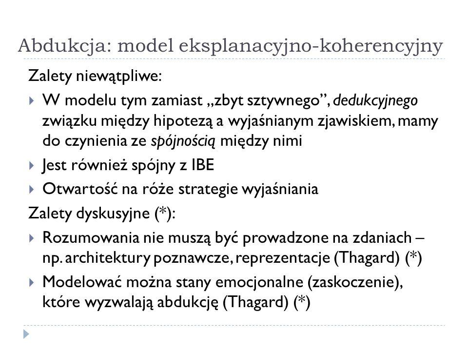 Abdukcja: model eksplanacyjno-koherencyjny