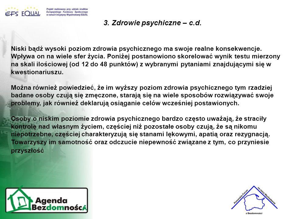 3. Zdrowie psychiczne – c.d.