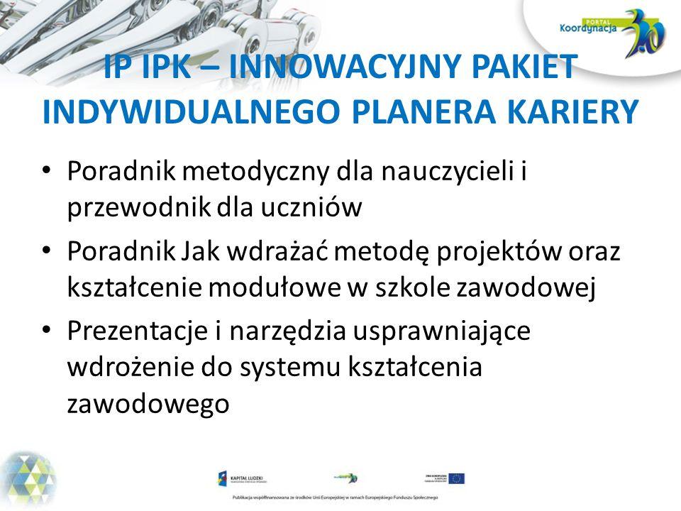 IP IPK – INNOWACYJNY PAKIET INDYWIDUALNEGO PLANERA KARIERY
