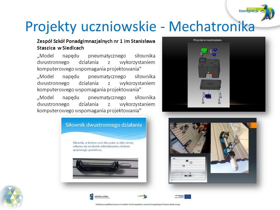 Projekty uczniowskie - Mechatronika