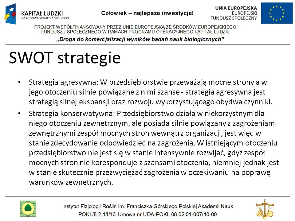 SWOT strategie