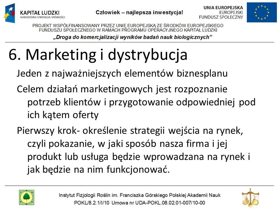 6. Marketing i dystrybucja