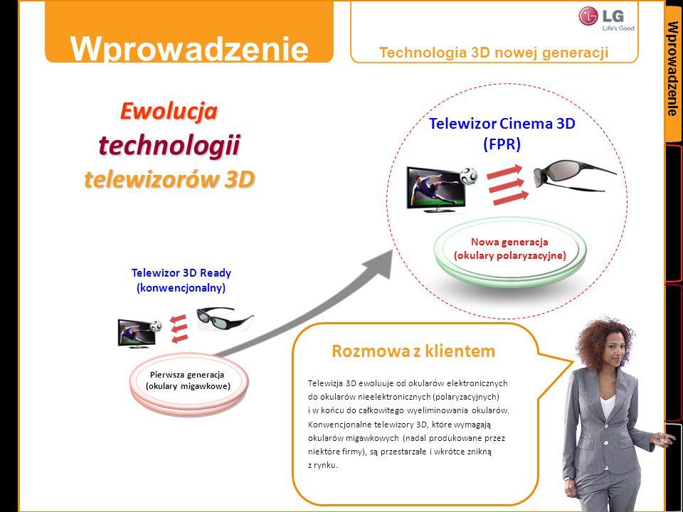 Wprowadzenie technologii telewizorów 3D Ewolucja Rozmowa z klientem