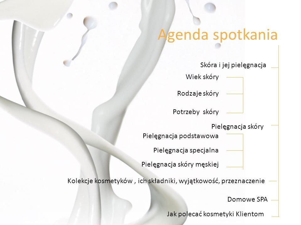 Agenda spotkania Skóra i jej pielęgnacja Wiek skóry Rodzaje skóry