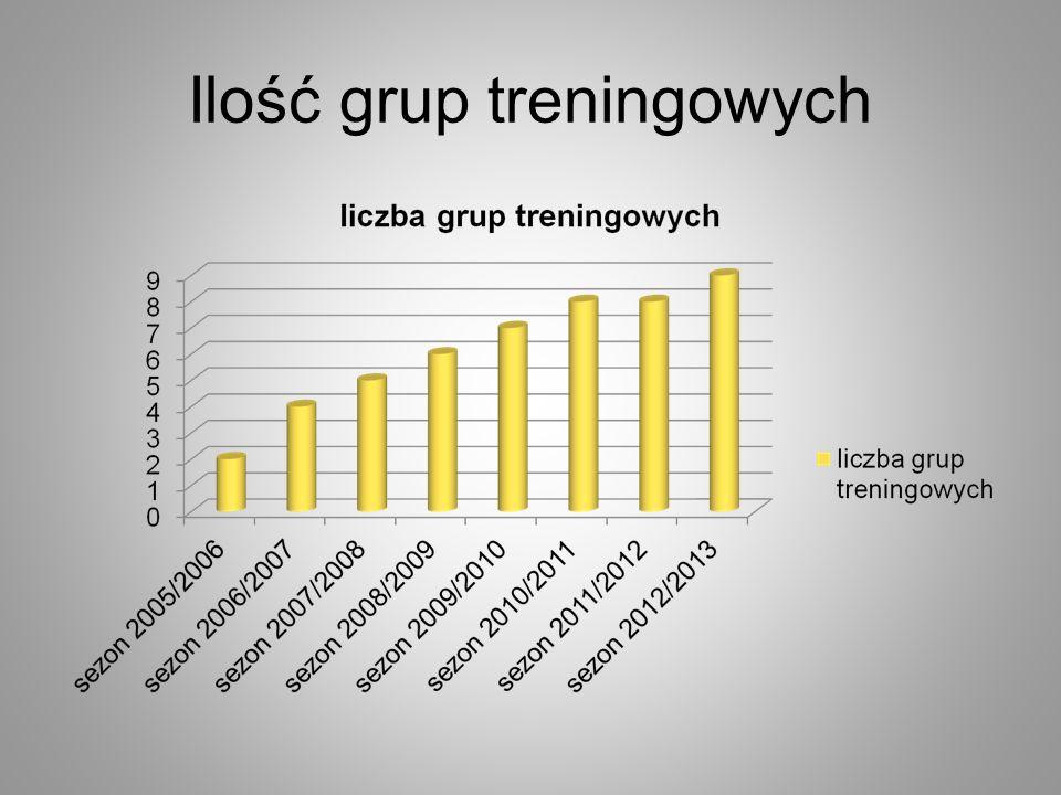 Ilość grup treningowych