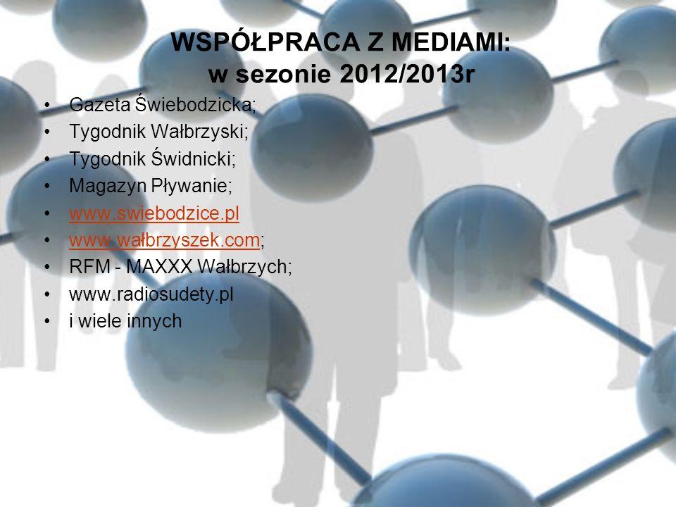 WSPÓŁPRACA Z MEDIAMI: w sezonie 2012/2013r