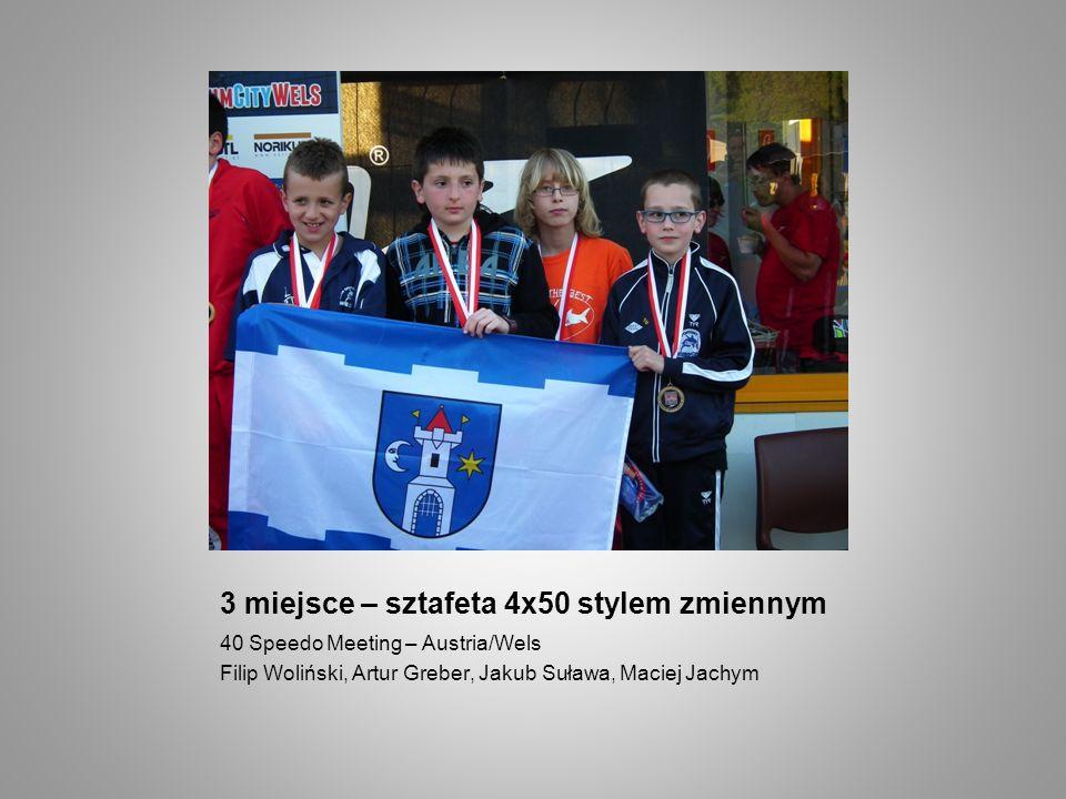 3 miejsce – sztafeta 4x50 stylem zmiennym