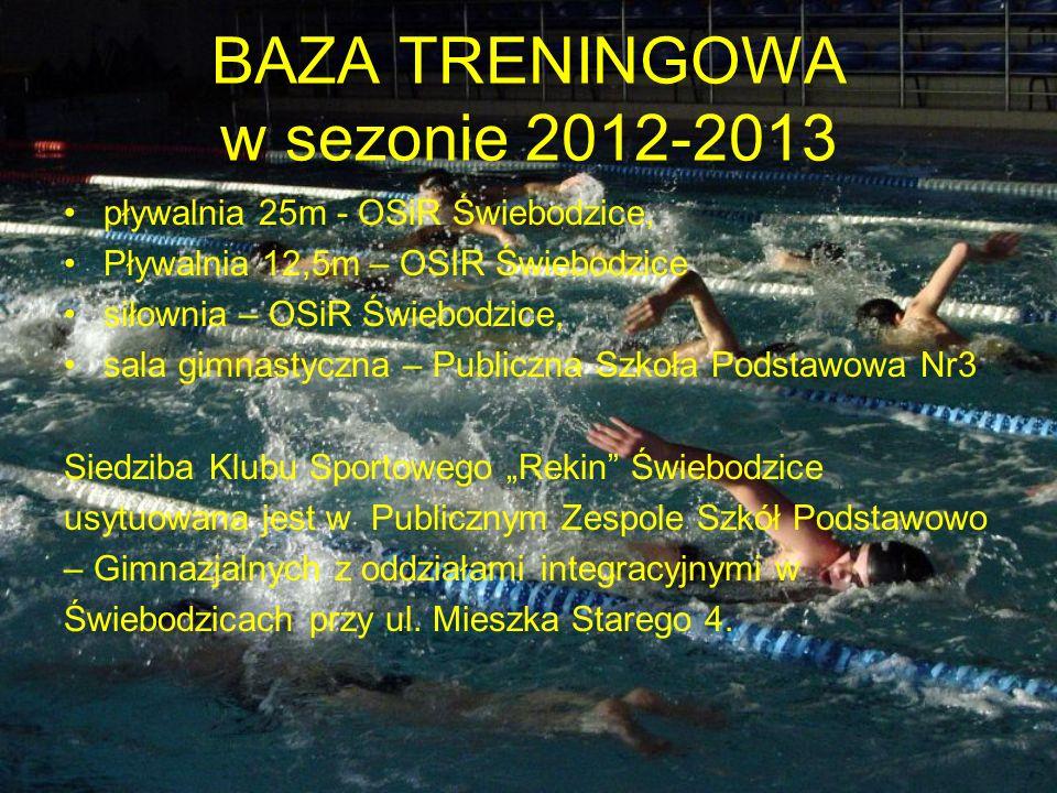 BAZA TRENINGOWA w sezonie 2012-2013
