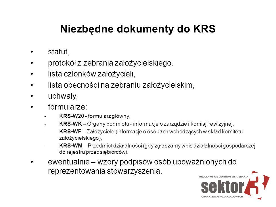 Niezbędne dokumenty do KRS