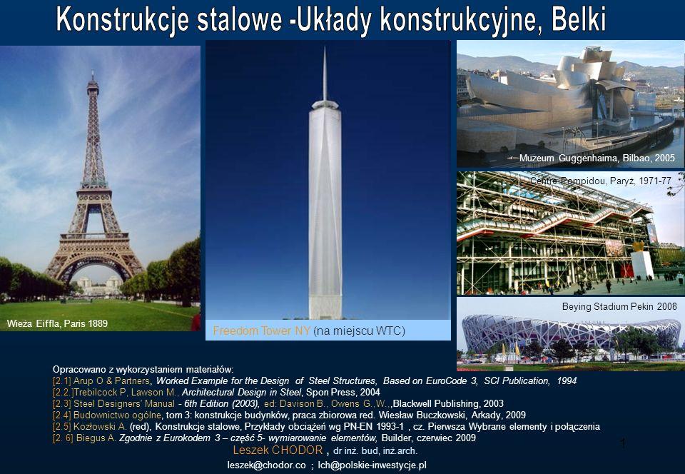 Konstrukcje stalowe -Układy konstrukcyjne, Belki
