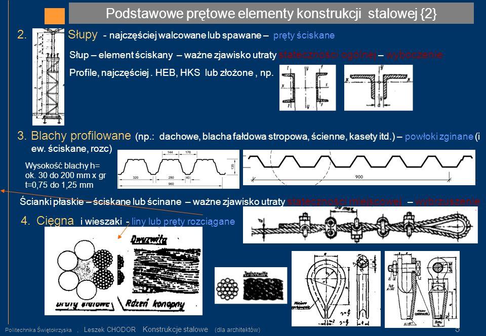 Podstawowe prętowe elementy konstrukcji stalowej {2}
