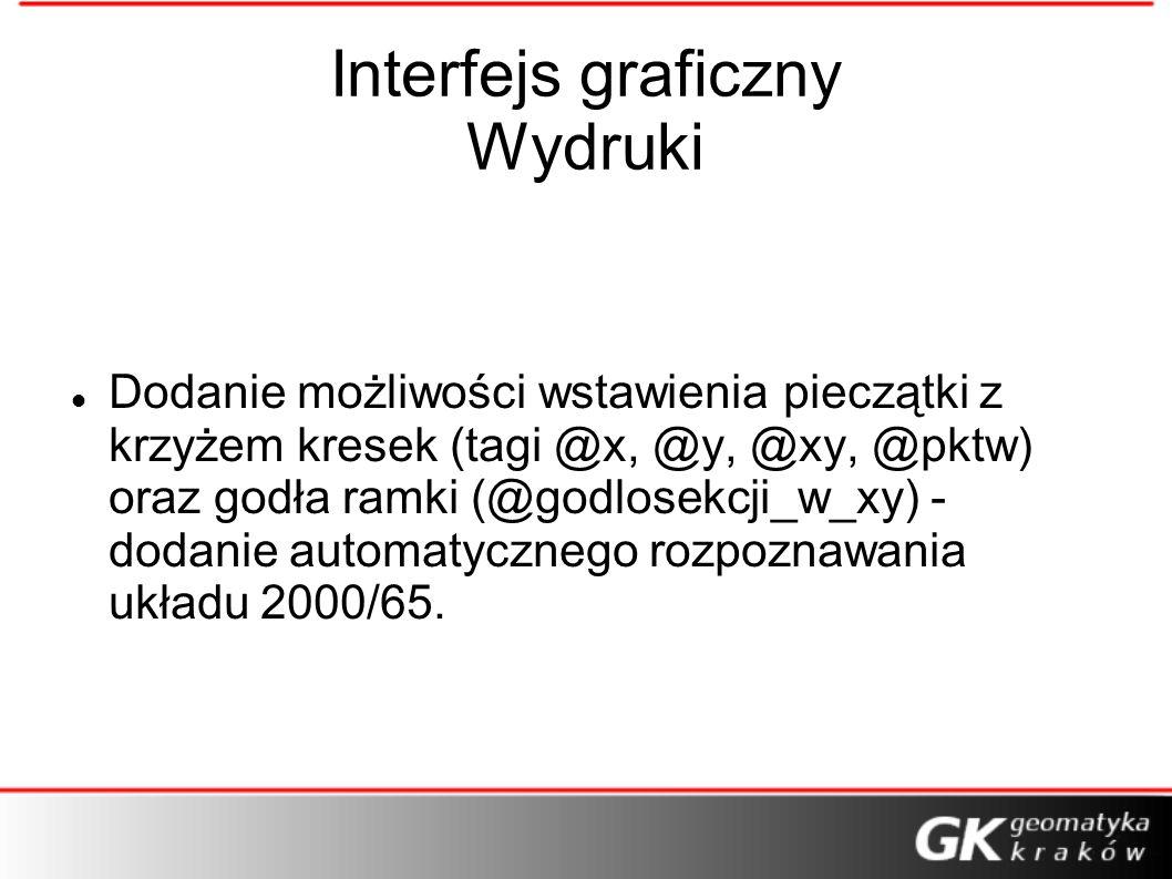 Interfejs graficzny Wydruki