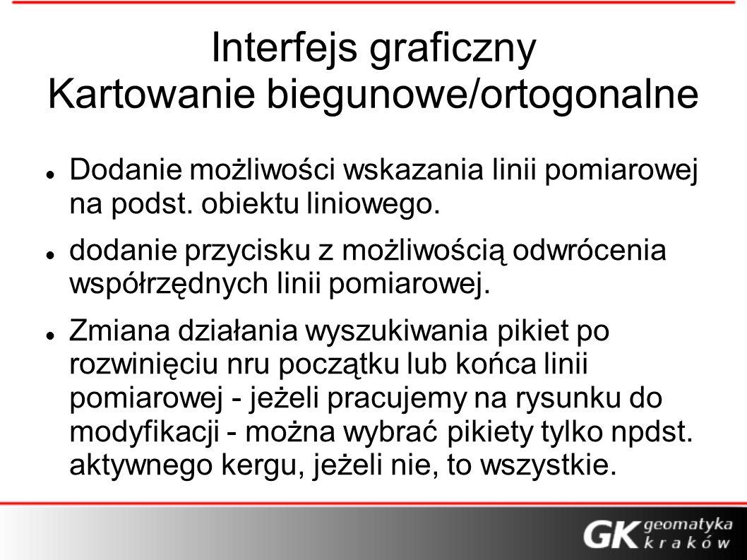 Interfejs graficzny Kartowanie biegunowe/ortogonalne