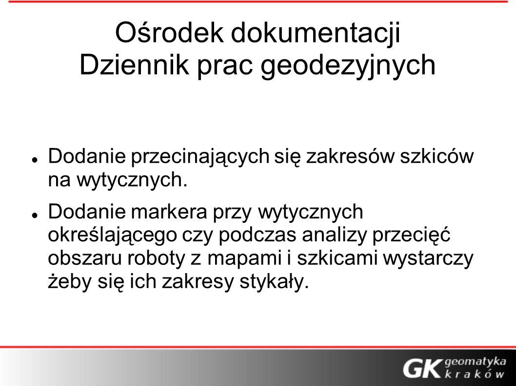 Ośrodek dokumentacji Dziennik prac geodezyjnych