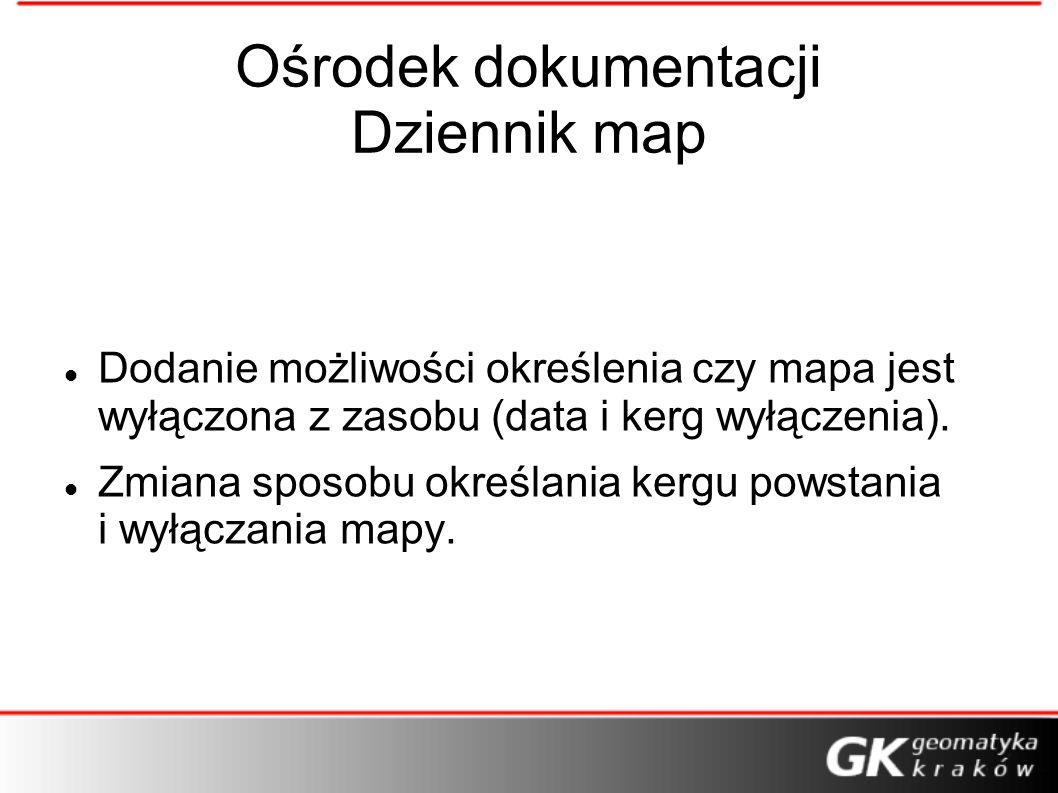 Ośrodek dokumentacji Dziennik map