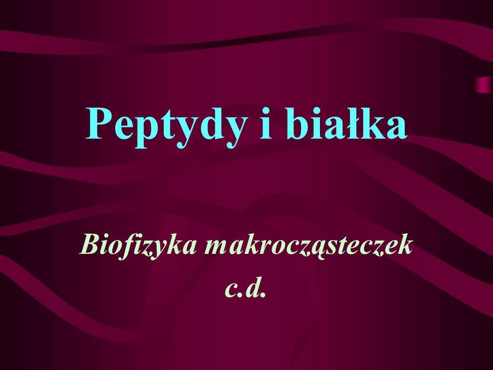 Biofizyka makrocząsteczek c.d.